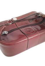 Los Robles Polo Time Cow Leather Toilet Bag Brown