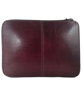 Los Robles Polo Time Cow Leather Tablet Case - Zipper Closure Brown