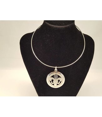 Alpaca Choker w/Large Trinket Silver Plated