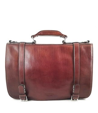 Los Robles Polo Time Cow Leather Briefcase - Front Compartment