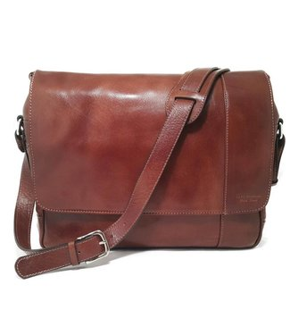 Los Robles Polo Time Cow Leather Laptop Messenger Bag