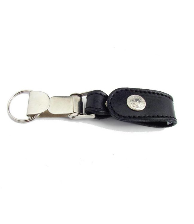 Los Robles Polo Time Key Chain In Cow Leather And Metal -