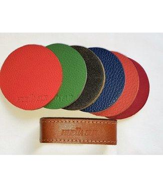 Huella Sur Leather Coaster