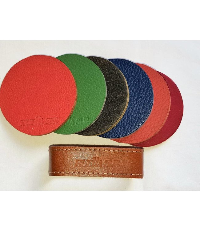 Huella Sur Leather Coaster