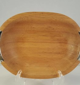 Oval Pacara Wood Tray with Alpaca Handles