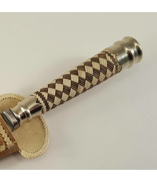 Premium Gaucho Knife - Rawhide Leather Braided - Diamond Pattern