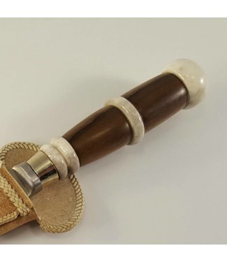 Gaucho Knife - Wood and Polish Stag Horn Ring