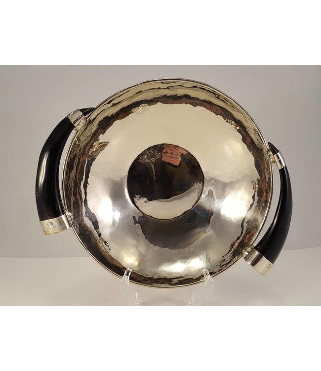 Alpaca Bowl Tray w/ Goat Horn Handles