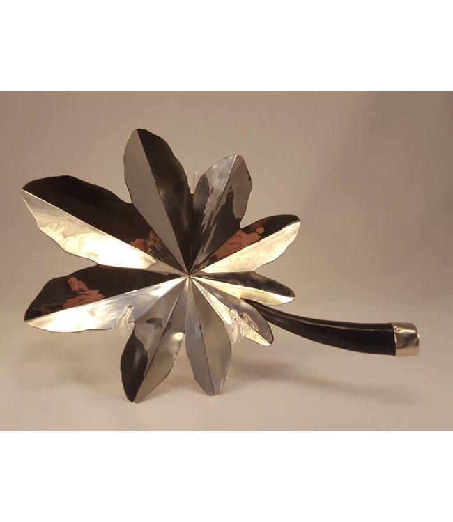 Alpaca Silver Tartago Leaf Craft w/Goat Horn