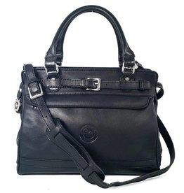 Los Robles Polo Time Leather Handbag with Adjustable Strap Semi-rigid