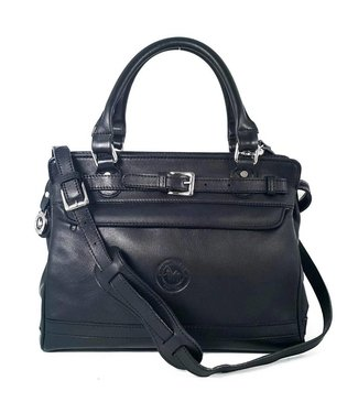 Los Robles Polo Time Leather Handbag with Adjustable Strap Semi-rigid