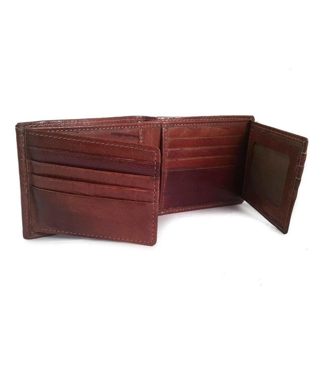 Los Robles Polo Time Billfold Cow Leather Wallet for Men