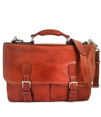 7feeee0d04 Los Robles Polo Time Cow Leather Briefcase - Back Compartment