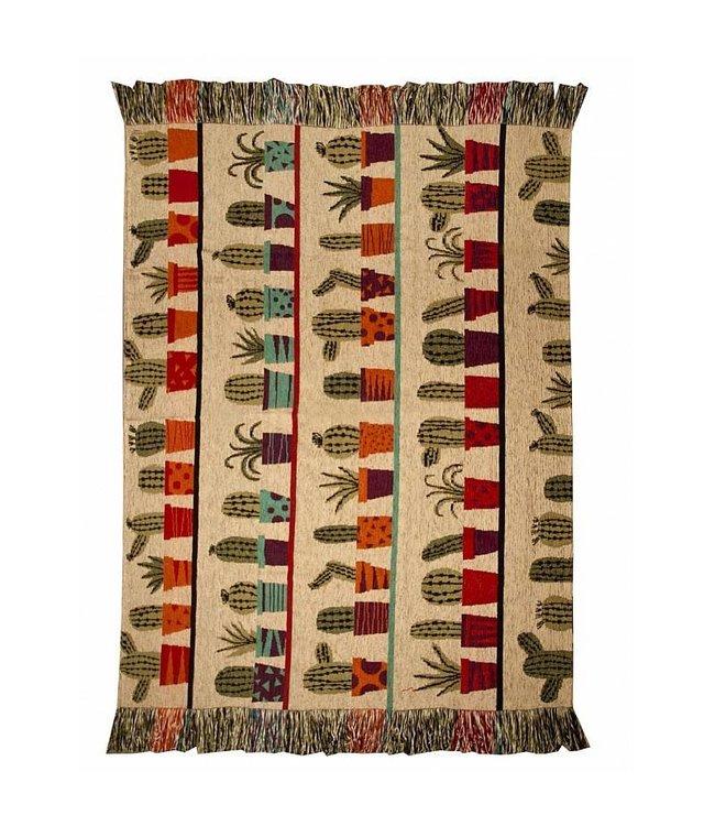 Huitru Throw Blanket Cactus Natural