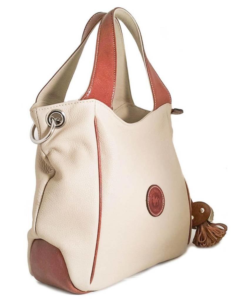 Los Robles Polo Time Cow Leather Shoulder Handbag with Detachable Shoulder