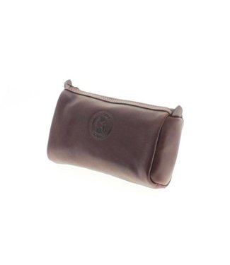 Los Robles Polo Time Cosmetic Leather Case Brown