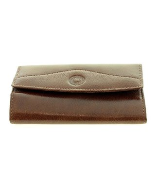 Los Robles Polo Time Skinny Accordion Wallet Cow Leather for Women Brown