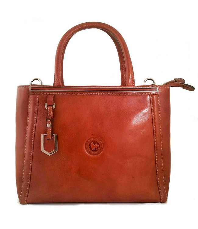 Los Robles Polo Time Cow Leather Handbag with Two Compartments
