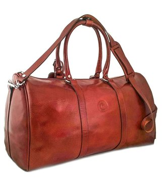 Los Robles Polo Time Duffle Bag with Leather Shoulder Strap: Cognac