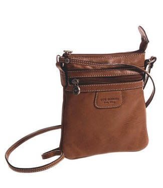 Los Robles Polo Time Cow Leather Cross-body with Front Zip Pocket Cognac