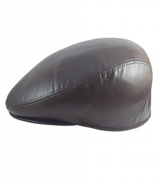 Handmade Brown Leather Cap