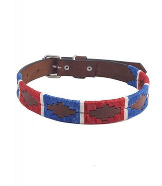 """Sam"" Polo Leather Dog Collar - Width 1''"
