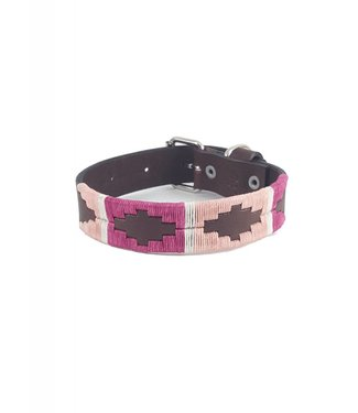 """Sophie"" Polo Leather Dog Collar - Width 1''"