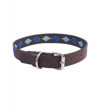 """Elsa"" Diamond Leather Dog Collar - Width 0.8"""