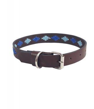 """Elsa"" Diamond Leather Dog Collar - Width 0.8"""
