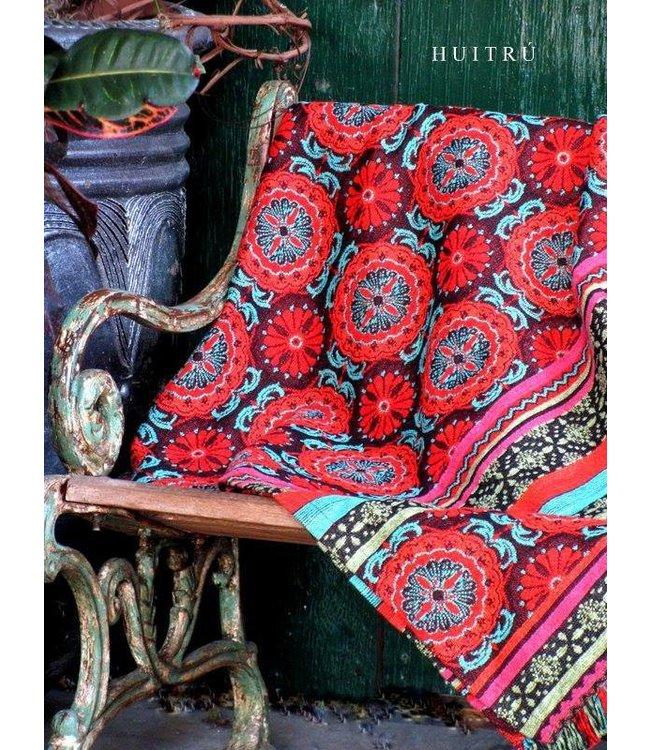 Huitru Throw Blanket Azulejo