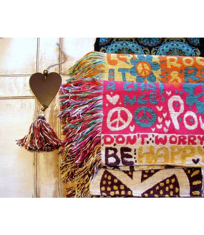 Huitru Throw Blanket Hippie Spring