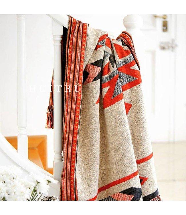 Huitru Throw Blanket Laredo Natural Tango
