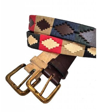''Palermo'' 100% Argentine Leather Embroidered Polo Belt