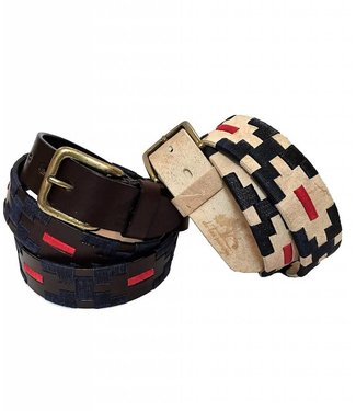 ''Salta'' 100% Argentine Leather Embroidered Polo Belt