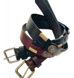 ''Casbas'' 100% Argentine Leather Embroidered Polo Belt