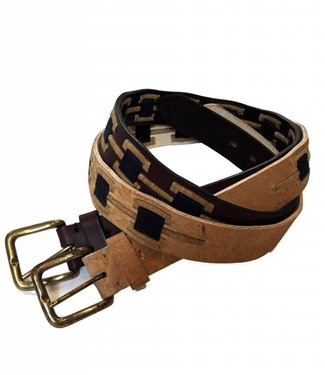 """Oran"" 100% Argentine Leather Embroidered Polo Belt"