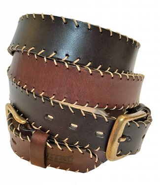 ''Mendoza'' 100% Argentine Leather Embroidered Polo Belt
