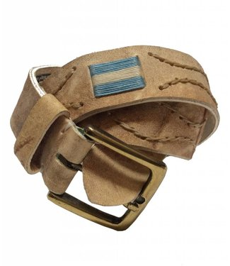 ''Argentina'' 100% Argentine Rawhide Leather Embroidered Polo Belt