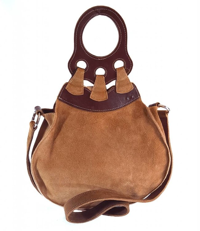 Free US Shipping-Suede Leather Handbag Belu Brown Green - the OMBU store 696d67d149239
