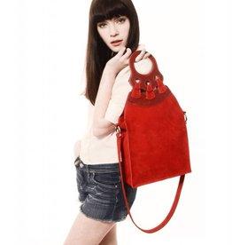 Huella Sur Suede Leather Handbag Patch Design