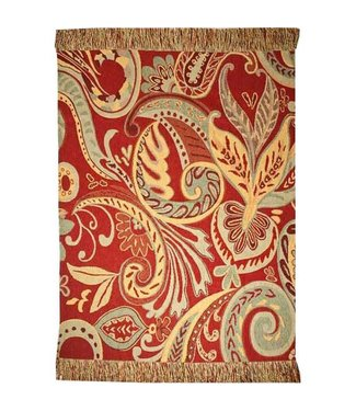 Huitru Throw Blanket Paisley Rouge