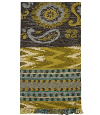 Huitru Table Runner Boho Chic Denim 95""