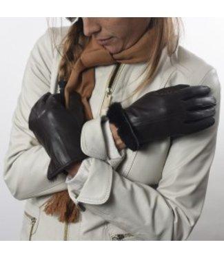 Kidskin Leather Gloves - Otter Fur Lining