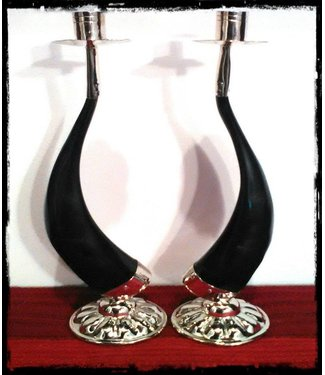 Candle Holder Set - Round Base 9""