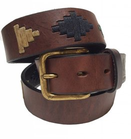 ''Inca'' 100% Argentine Leather Embroidered Polo Belt