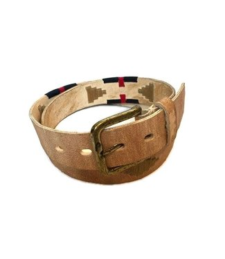 ''Bravo'' 100% Argentine Leather Embroidered Polo Belt