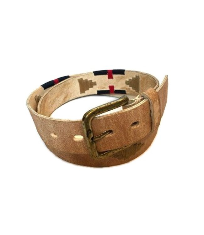 """The Best Quality 100/% Argentine Embroidered Leather /""""Pampa 2/"""" Polo Belt"""