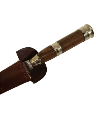 Gaucho Knife - Wood with Alpaca Ring Handle