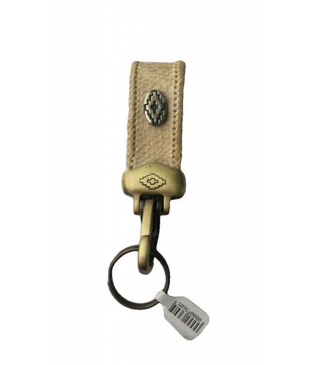 Key Chain In Rawhide Leather w/Snap Hook 5''
