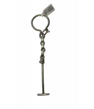 """Key Chain In Nickel Silver W/Polo Mallets 5"""""""